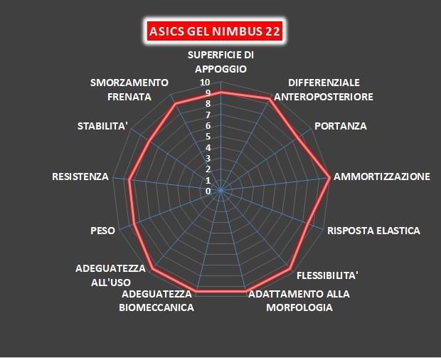 Mappa Asics Gel Nimbus 22